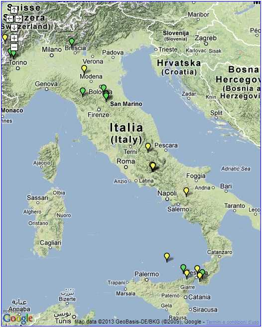 Mappa dei terremoti in tempo reale