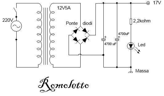 LA4465 alimentatore amplificatore