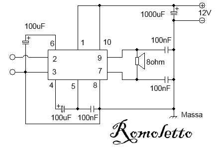 LA4465 amplificatore minimo