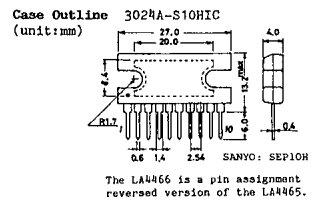 LA4465 pin