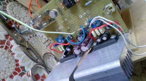 Amplificatore 12+12 Wmontato
