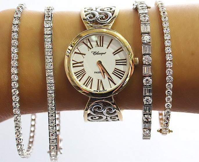 Bracciale con orologio