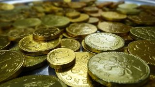 Vincere monete d'oro o di ciccolato