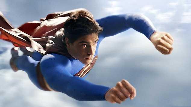 Superman che vola