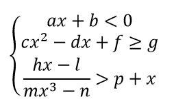 Sistemi di disequazioni