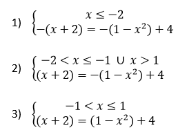 equazioni con i valori assoluti sistemi equivalenti