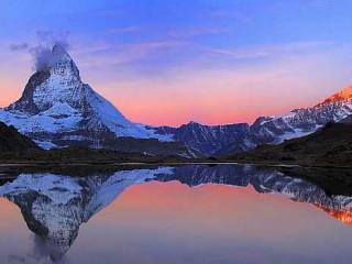 Montagna con lago
