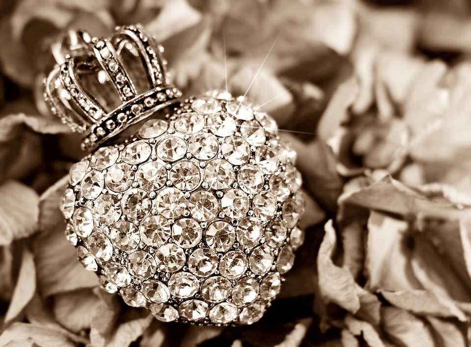 Gioiello cuore di diamanti