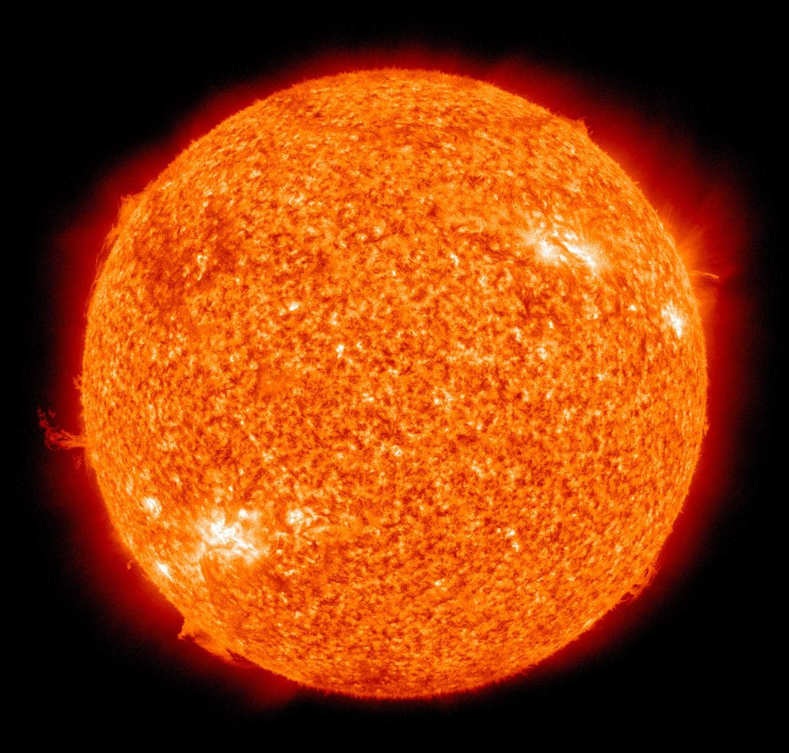 Sole visto al telescopio