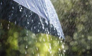 Pioggia e ombrello