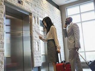 Entrare nell'ascensore