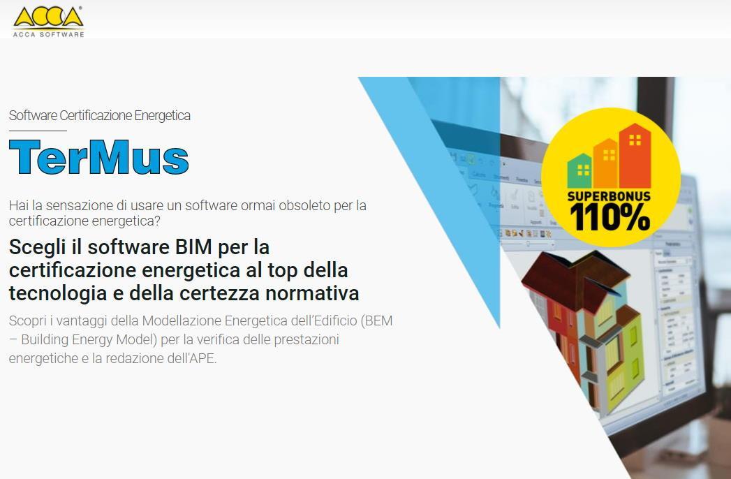 Software Certificazione Energetica - TerMus - ACCA Software