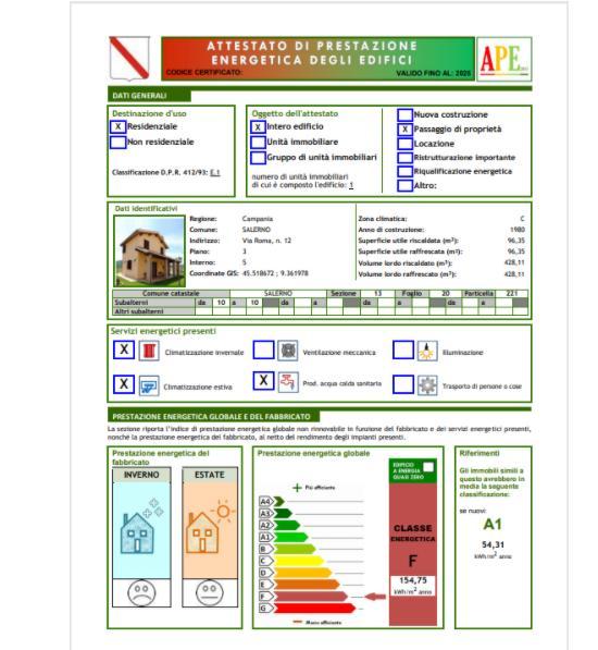 Software certificazione energetica degli edifici APE ed AQE