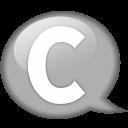 speech-balloon-white-c-icon