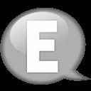 speech-balloon-white-e-icon