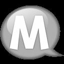 speech-balloon-white-m-icon