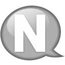 speech-balloon-white-n-icon