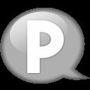 speech-balloon-white-p-icon