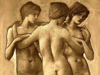 Essere nudi - Interpretazione dei sogni ( Le tre grazie di Burne Jones)