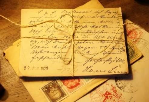 Lettera - Vecchie lettere postale in busta