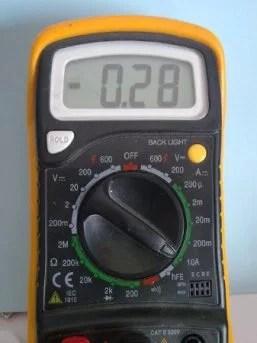 Sony CCD tr640E - Assorbimento di corrente