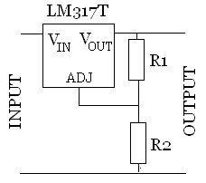 Sony CCD tr640E - LM317 - Circuito Regolatore di tensione