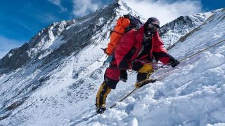 Arrampicarsi sulla neve