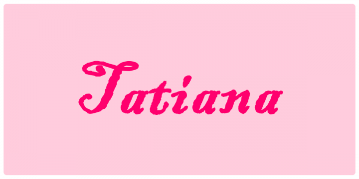 Tatiana - Significato dei nomi