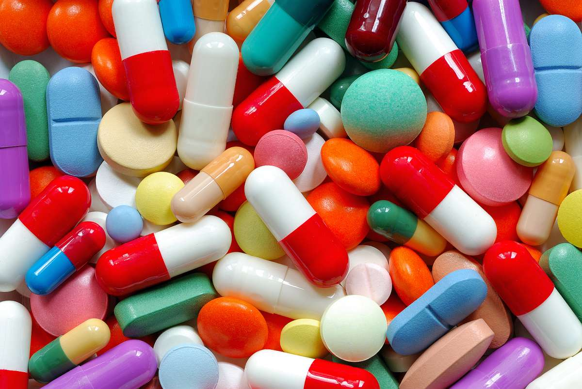 Pillole varie colorate