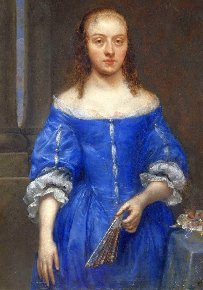 Gonzales Coques - Ritratto di donna in vestito blu
