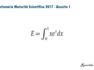 Maturità Scientifica 2017 - Questionario - Quesito 1