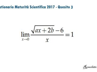 Maturità Scientifica 2017 - Questionario - Quesito 3