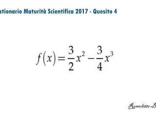Maturità Scientifica 2017 - Questionario - Quesito 4
