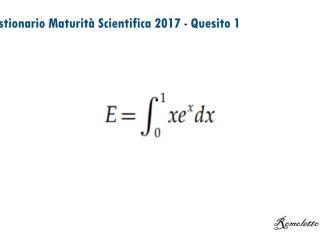 Maturità Scientifica 2017 - Questionario - Quesito 1