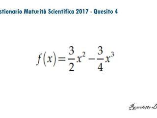 Maturità Scientifica 2017 - Questionario - Quesito 4