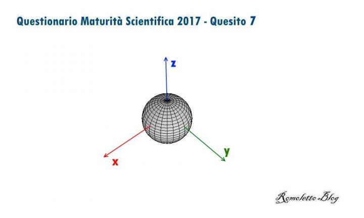 Maturità Scientifica 2017 - Questionario - Quesito 7