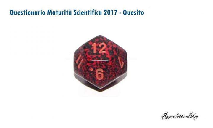 Maturità Scientifica 2017 - Questionario - Quesito 8