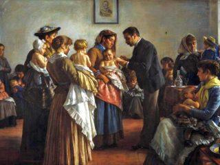 Morbillo - Interpretazione dei sogni (D. Cosola La vaccinazione nelle campagne, 1894)