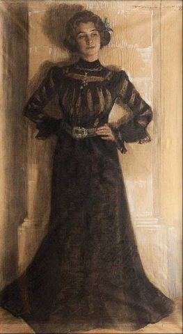 Peder Severin Kröyer - Ritratto della moglie Maria