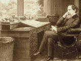 Scrivania - Interpretazione dei sogni - Charles Dickens alla scrivania
