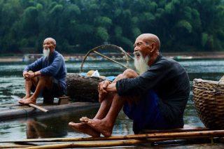 Anziani cinesi pelati
