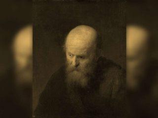 Calvo, pelato - Interpretazione dei sogni (Rembrandt - Ritratto di un vecchio calvo)