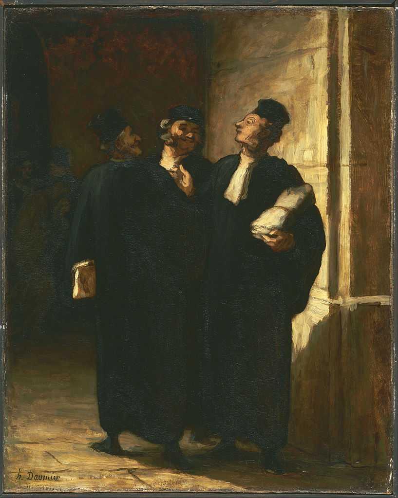 Honoré Daumier - Tre avvocati