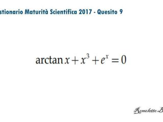 Maturità Scientifica 2017 - Questionario - Quesito 9