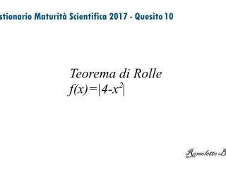 Maturità Scientifica 2017 - Questionario - Quesito 10