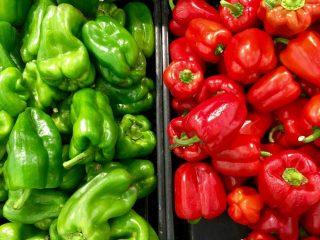 peperoni verdi e rossi