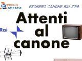 Canone RAI 2018 - Esenzione