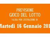 Previsione Lotto 16 Gennaio 2018