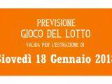 Previsione Lotto 18 Gennaio 2018