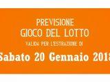 Previsione Lotto 20 Gennaio 2018
